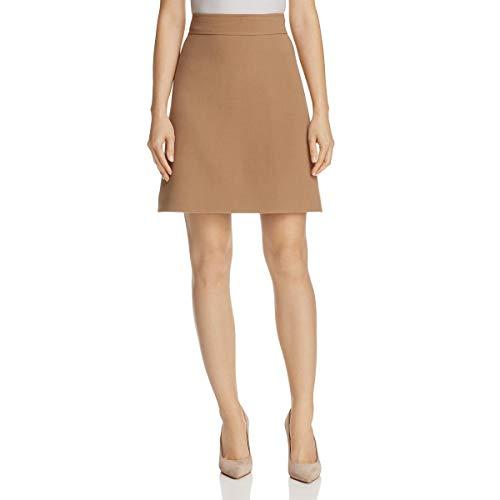 (Theory Women's Highwaist Mini B Skirt, Graham, 6)