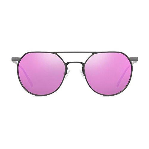 Ombre TAC Noir purple Décoratif Protection WLHW UV Femmes frame Loisirs Hommes Gun Aluminium de lunettes Polarisées Magnésium Aviation soleil