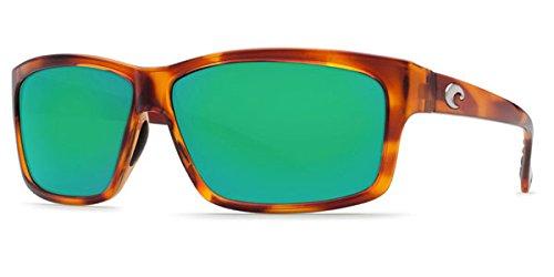 Polarized Green Mirror 400 Glass - Costa Del Mar Sunglasses - Cut- Plastic / Frame: Honey Tortoise Lens: Polarized Green Mirror Wave 400 Glass