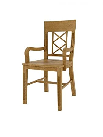 Esszimmer-Stuhl Massivholz-Stuhl mit Armlehnen Chalet, Holzsitz ...