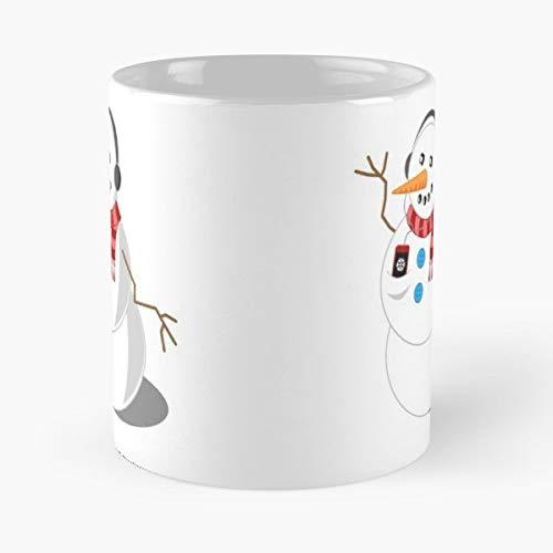 (Snowman Snow Dance D - 11 Oz White -coffee Mug.)