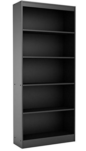 """South Shore Contemporary Tall Bookcase - This 71"""" Bookshelf Has Adjustable Shelves - Great Storage Furniture Decor That You Can Place in Your Study Room, Home Library or Office - 5 Years Warranty!"""