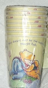 Winnie Pooh Classic Party Cups birthday favors decorations ()