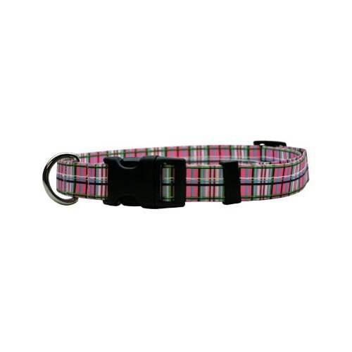 Tartan Pink Dog Collar - Size Teacup 4