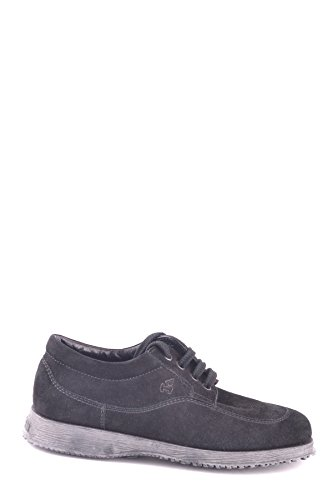 Hogan Ladies Mcbi148319o Scarpe Stringate In Camoscio Nero