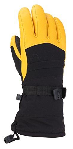 Gordini Stretch Gloves - Gordini Men's Men's Polar Ii Waterproof Insulated Gloves, Black/Gold, X-Large