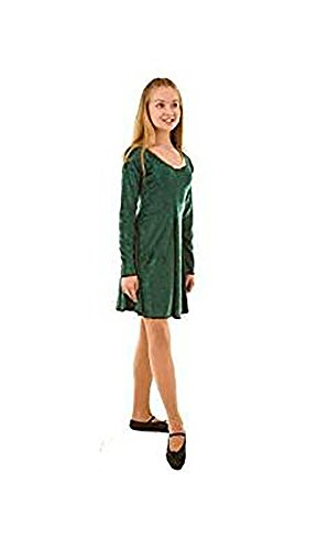Dance-Stage-Celtic-Irish-Lyrical Irish Dance Dress Child's Costume - in Variation Colours & Sizes (Age 5-6, Forest Green)