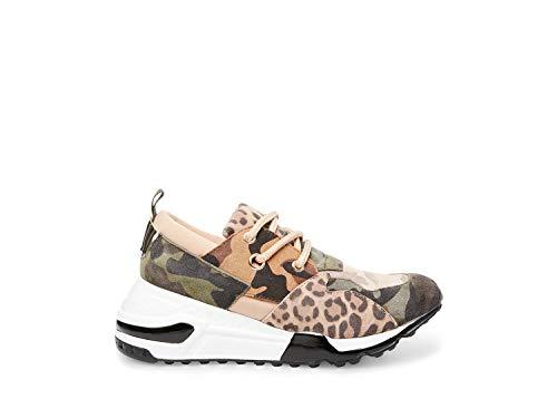 (Steve Madden Women's Cliff Sneaker, Khaki/Olive, 8 M US)