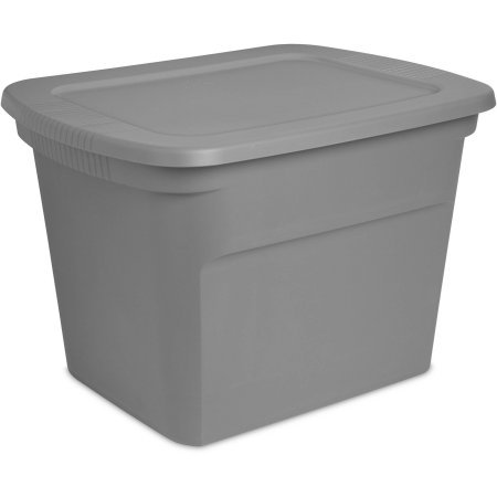 Sterilite 18 Gallon Tote Box (Titanium Case of 8) (Craft Cart Sterilite)