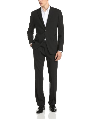 Theory Men's Wellar Half Canvas New Tailor Suit Jacket, Black, 40