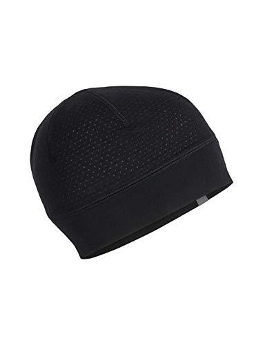 Icebreaker Merino Zone Beanie Cold Weather Hats, One Size, Black (Ibex Wool Hat)