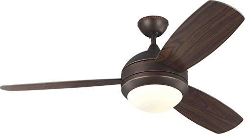 Monte Carlo 3DIR52RBD-V1 Discus Trio LED Ceiling Fan, 52