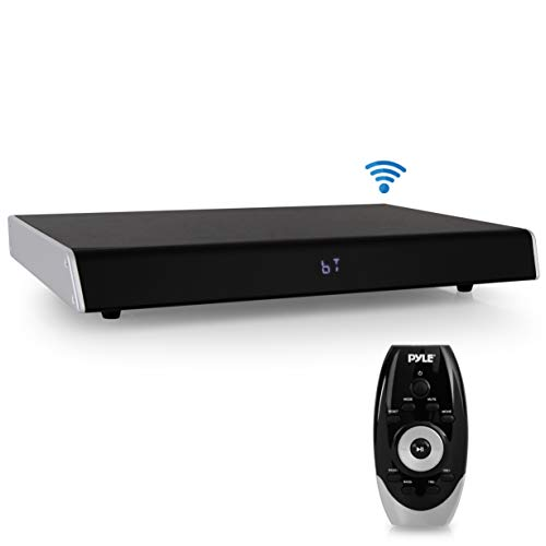 Surround Sound TV Sound Bar - Bluetooth Compatible Wireless Soundbar for TV w/Built in Subwoofer Speaker - Television Sound Bar System w/LCD/HDMI/Digital Optical/RCA/AUX/USB - PyleHome PSBV830HDBT.5