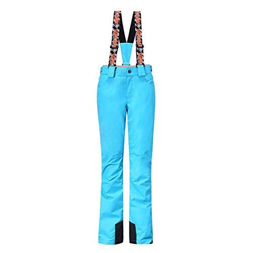 (Biback Women's Ski Pants Outdoor Sports Bogners Windproof Waterproof Hiking Mountain Bib Trousers Soft Fleece Lined Warm Snow Wear.)