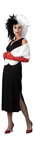 Cruella de Vil Classic Costume - Large - Dress Size 12-14 (Adult Cruella De Vil Costume)