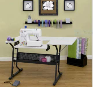 Craft - Mesa de costura, color blanco: Amazon.es: Juguetes y juegos