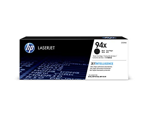 HP 94X (CF294X) Black High Yield Toner Cartridge for HP LaserJet Pro M118, MFP M148 (Best Soho Laser Printer)