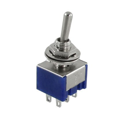 Uxcell a12022900ux0212 5Pcs 3 Position 2P2T DPDT On-Off-On Miniature Mini Toggle Switch (Switch Mini Dpdt)