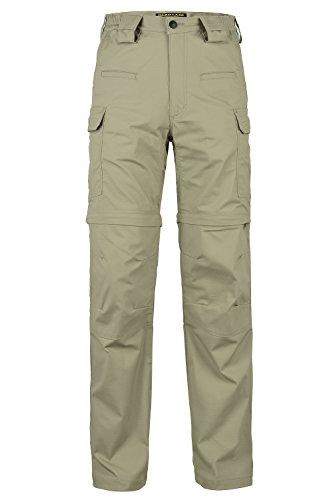 HARD LAND Men's Convertible Hiking Pants Waterproof Zipoff Lightweight Ripstop Tactical Pants Teflon Cargo Shorts