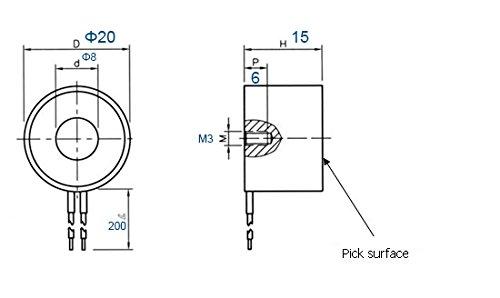 HALJIA Elektrischer Hubmagnet Elektrischer Lasthebemagnet Gleichstrom 12/V 2,5/kg