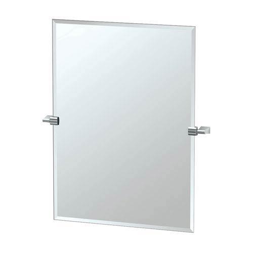 Gatco 4379S Bleu Rectangle Wall Mirror, Chrome