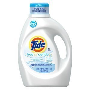 Tide Free & Gentle HE Liquid Laundry Detergent for High Efficiency Machines, 100 fl oz (PACK OF 3)) by Tide