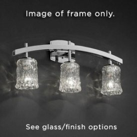 Justice Design FAL-8593-30-MBLK Archway Three Light Bath Bar, Choose Finish: Matte Black Finish, Choose Lamping Option: Standard Lamping