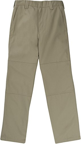 - French Toast School Uniform Boys Straight Leg Utility Pants, Khaki, 16 Husky