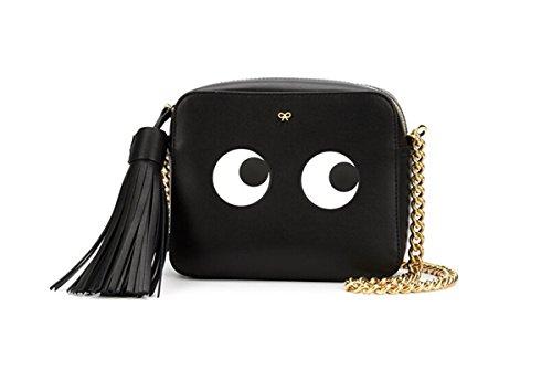 New Shoulderbag Cute Eyes Bag Women Tassels Parcel Daypack(Black)