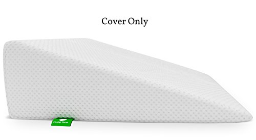 Bed Wedge Pillow Replacement Cover - Fits Cushy Form 7.5 Inch Wedge Pillow - Hypoallergenic, Machine Washable Case (REPLACEMENT COVER ONLY 7.5