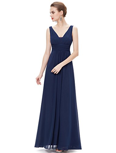 Kleid Ever Blue Navy Pretty Damen qfBUYv