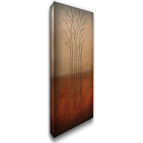 Branch Rouge - Branch Rouge 11x24 Gallery Wrapped Stretched Canvas Art by Eve