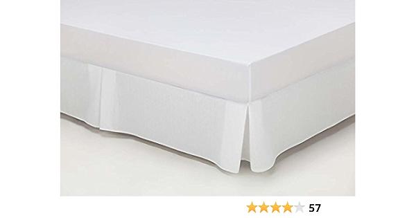 ESTELA - Cubrecanapé Hilo Tintado RÚSTICO Color Blanco óptico - Cama de 180 - Alto 35 cm - Tipo Colcha - 50% algodón / 50% poliéster - Medidas: 180 x ...