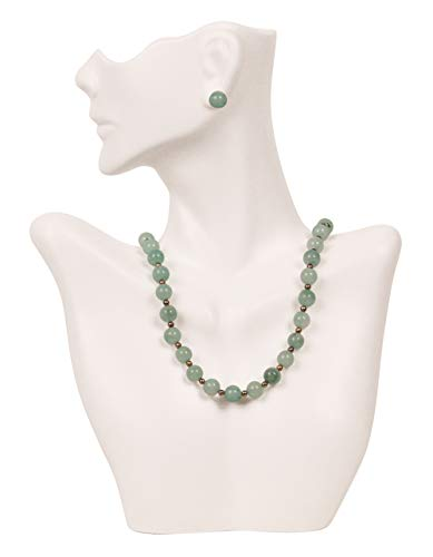 (Caddy Bay Collection Necklace and Earring Bust Jewelry Display - White)