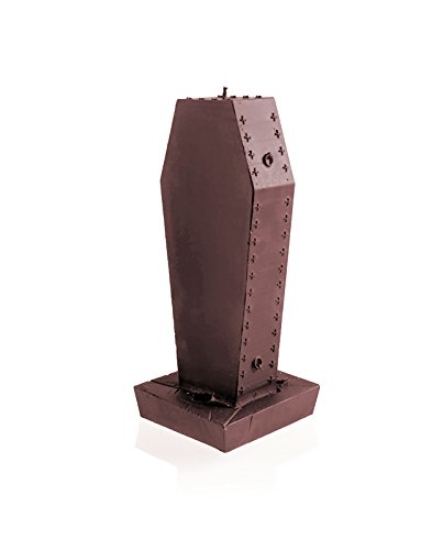Candellana Candles 5903104805333 Gothic Coffin with Cross Stone Brown