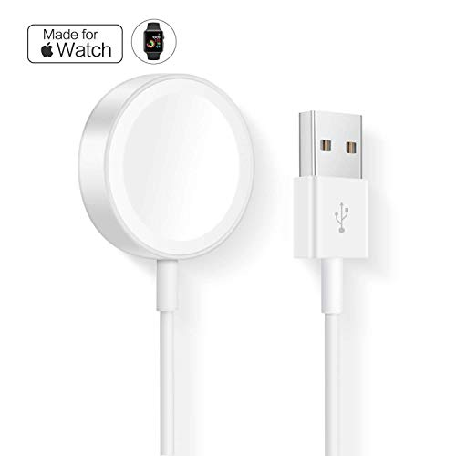 CulaLuva Magnetic Wireless Charger Cable Pad Stand for with Apple Watch Series 3 2 1 All 38mm 42mm
