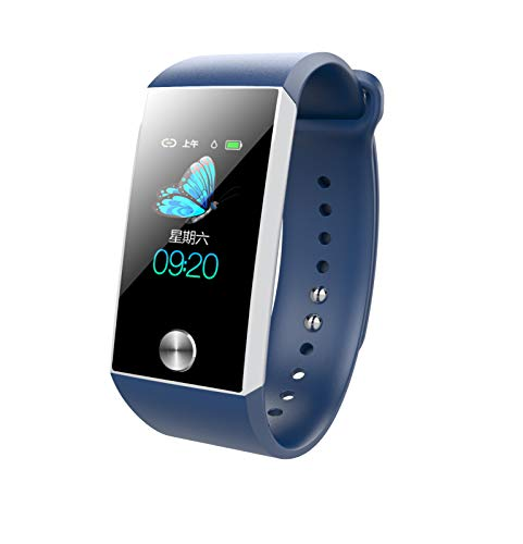 CZYCO Long Standby Smart Watch Heart Rate Blood Pressure Monitor PPG+ECG Sports Bracelet Your Housekeeper(Blue) (Advocate Wrist Blood Pressure Monitor Automatic Kd 726)