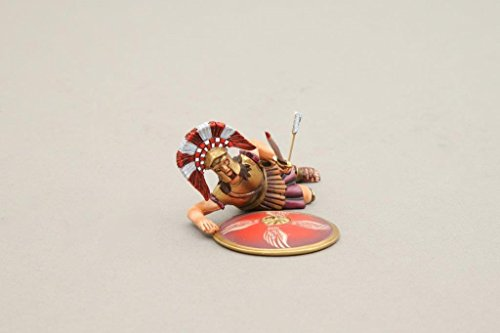Thomas Gunn Miniatures Spartan Wounded Officer With Sword And 4 Wing Red Shield SPA008E ()