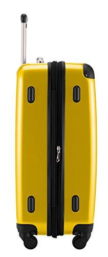 HAUPTSTADTKOFFER® 45 Liter Hartschalenkoffer · Boardcase · Handgepäck 45 Liter (55 x 35 x 20 cm) · Hochglanz · TSA Schloss · GELB