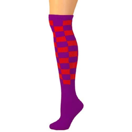 Ajs Red M Purple Mujer Calcetines rrvnH15q7
