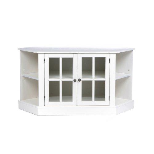 Thomas Corner Media Stand - White (Painted Corner Cabinet compare prices)