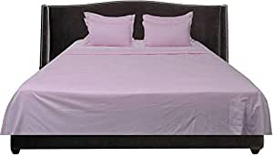 Brightlinen Pink Emperor (215 X 215 Cm) Sheet Set Solid(pocket Size: 30 Cm) 6pcs