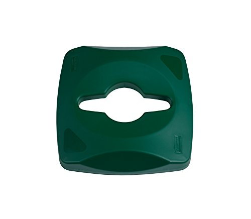 Rubbermaid Commercial 1788375 Untouchable Waste and Recycling Container, 23-gallon Single-Stream Recycling Lid, Green