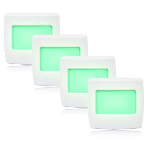 Maxxima Mini Green Always On LED Night Light Pack of 4