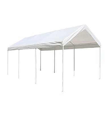ALEKO CP1020NS Outdoor Event Carport Garage Canopy Tent Shelter Storage 10 x 20 x 8.5 Feet White