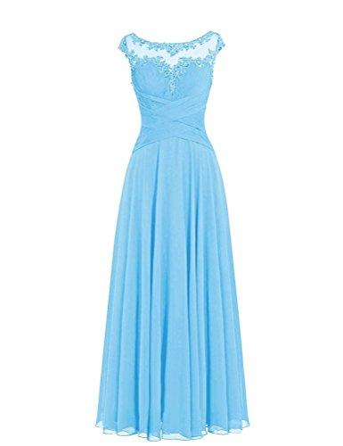 WeiYin Women's Chiffon Long Formal Evening Dresses