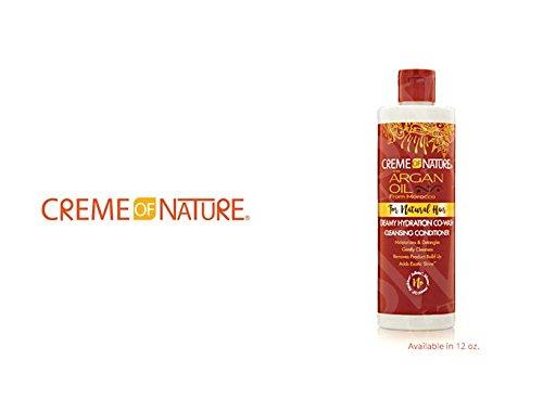 - CREME OF NATURE Argan Oil Creamy Hydration Co-Wash Conditioner 12oz