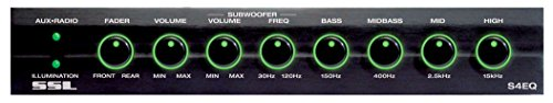 Sound Storm S4EQ 4 Band Pre-Amp Car Equalizer With Gold-Plated Front / Rear and Subwoofer Outputs