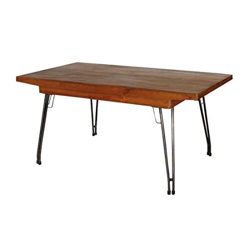アンティークチーク&アイアン ダイニングテーブル B07TCFXKJP