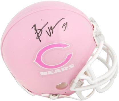 Brian Urlacher Chicago Bears Autographed Pink Riddell Mini Helmet - Fanatics Authentic Certified - Autographed NFL Mini Helmets Autographed Pink Mini Helmet